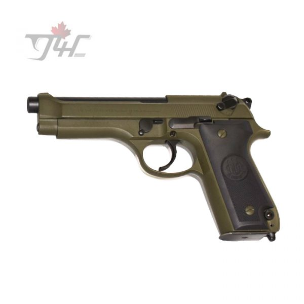 "Beretta 92S Italian Police Surplus 9mm 4.9"" BRL OD Green"