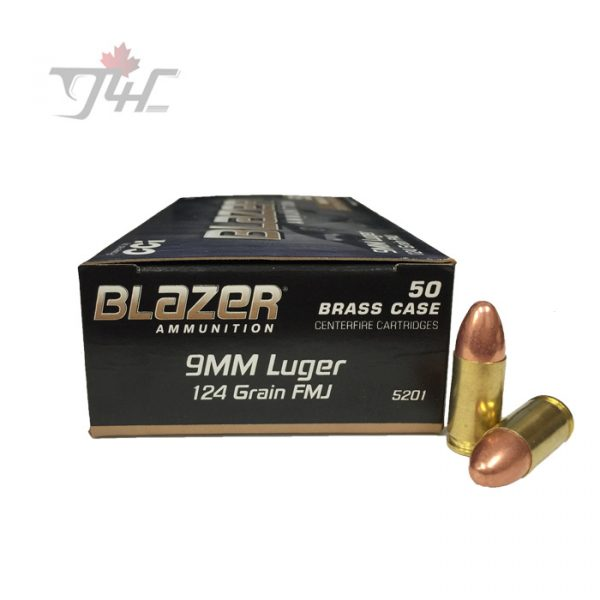 CCI Blazer-Brass 9mm Luger 124gr. FMJ 50rds