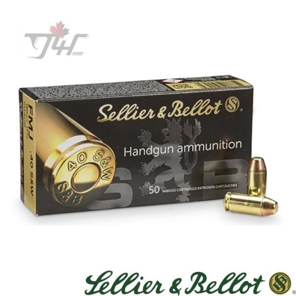Sellier&Bellot .40S&W 180gr. FMJ 50