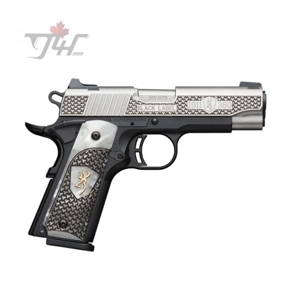 Browning 1911-380 Black Label High Grade Pearl Grips