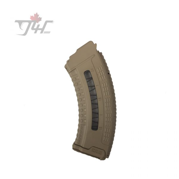 Fab Defense VZ58 7.62x39mm 5-30rd Window Magazine Tan