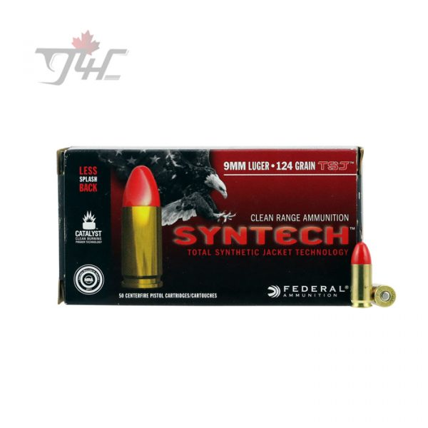 Fed. American Eagle Syntech 9mm Luger 124gr. TSJ 50rds