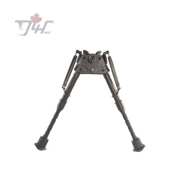 Harris Series S Bench Rest Pivot Bipod 6'' - 9'' w/ Leg Notch & Swivel Stud Mount