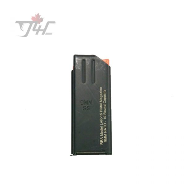 ASC RRA Model LAR-15 Pistol Magazine 9mm 10 Rounds Capacity