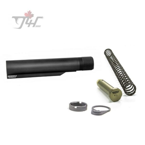 Geissele AR15/M4 Premium Mil-Spec Buffer Tube Assembly w/ Super 42 H1 7075-T6 BLK