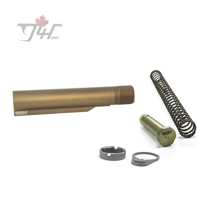 Geissele AR15/M4 Premium Mil-Spec Buffer Tube Assembly w/ Super 42 H1 7075-T6 DDC