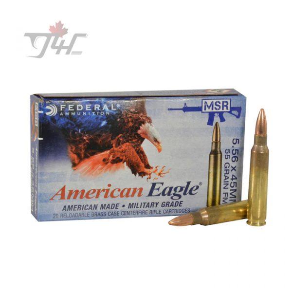 Fed. American Eagle 5.56x45mm MSR 55gr. FMJ 20rds