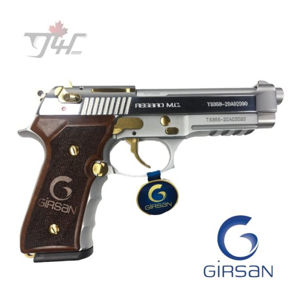 "Girsan Regard MC 9mm 4.9"" BRL Gold Pieced"