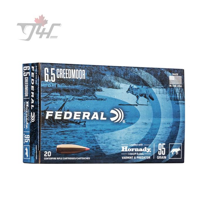 Federal Varmint & Predator 6.5Creedmoor 95gr. Hornady V-Max 20rds