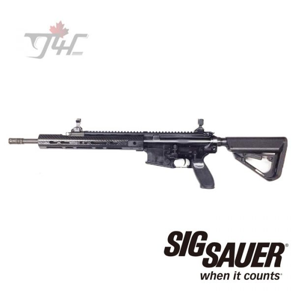 "Sig Sauer 716 Patrol w/Lancer Carbon Handguard .308WIN 16"" BRL Black (Demo)"