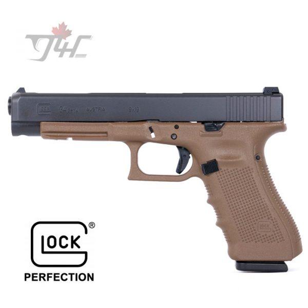 """Glock 34 Gen4 9mm 5.3"""" BRL FDE"""