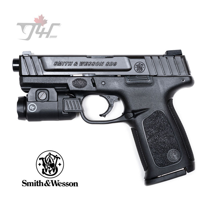 """Smith & Wesson SD9 VE Weaponlight Combo 9mm 4.25"""" BRL Black"""