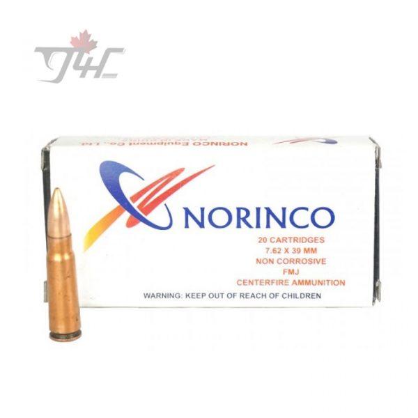 Norinco 7.62x39mm 123gr. FMJ Non-Corrosive 20rds