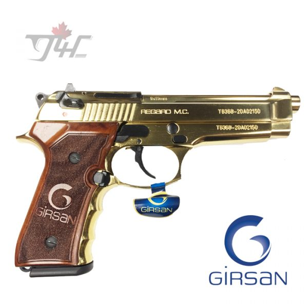 "Girsan Regard MC 9mm 4.9"" BRL Full Gold"