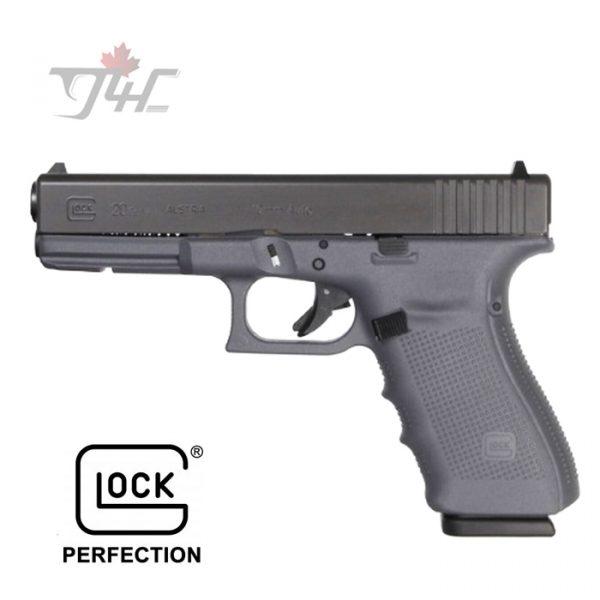 """Glock 20 Gen4 FXD 10mm 4.6"""" BRL Grey"""