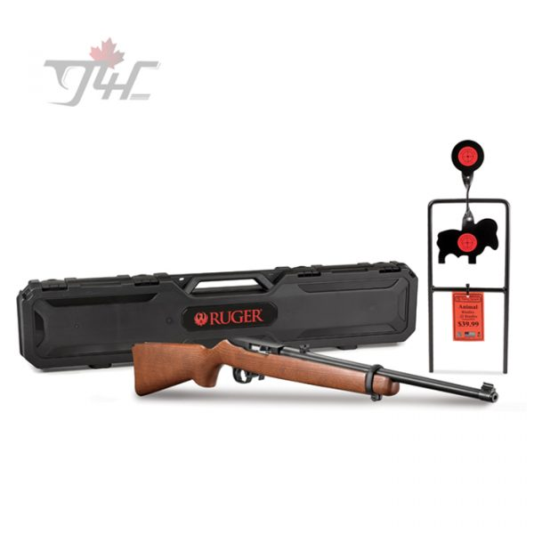"Ruger 10/22 Carbine w/Spinner Target .22LR 18.5"" Black/Wood"