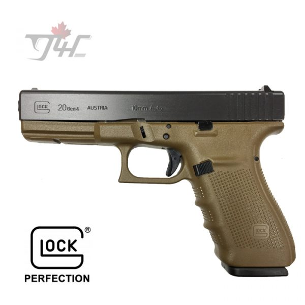 "Glock 20 Gen4 FXD 10mm 4.6"" BRL FDE"