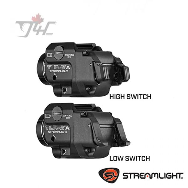 Streamlight TLR-8A Flex Rail White LED 500 lumens w/ Red Laser BLK