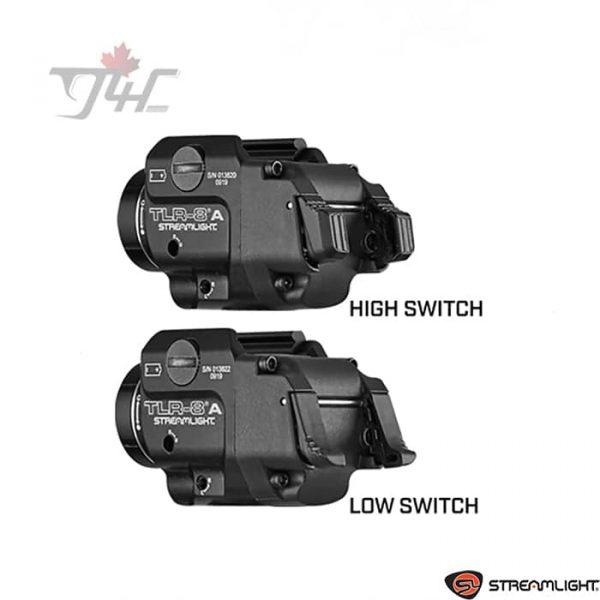 Streamlight TLR-8A Flex Rail White LED 500 lumens w/ Red Laser Black